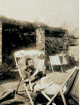 "Featured image, of Lytton Strachey in the 1920s, is reproduced from <I>The Bloomsbury Group</I>. ""A man of letters, Strachey led a sedentary existence and is often shown in a state of complete relaxation, a condition conducive to a life of intense mental activity."""