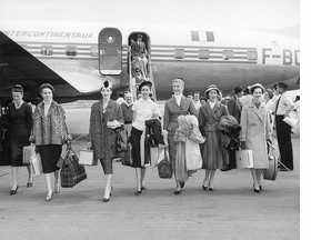 Featured image, of Dior models arriving in Australia for the presentation of the autumn-winter 1957 haute couture collection, is reproduced from 'The House of Dior: Seventy Years of Haute Couture.'