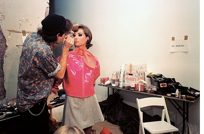 The Isaac Mizrahi Pictures: New York City 1989–1993. Photographs by Nick Waplington, Christy Turlington doing makeup