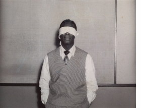 "Featured image, ""Nat King Cole (Blindfolded),"" by Miller-Ertlas Studios (circa 1950), is reproduced from <a href=""9781597111935.html"">The Unseen Eye: Photographs from the Unconscious</a>, <a href=""apfo.html"">Aperture's</a> haunting and beautifully produced volume of photographs of people, or subjects, with their eyes averted, culled from the world-renowned collection of W.M. Hunt. Featuring works by masters such as Richard Avedon, Diane Arbus, Imogen Cunningham, William Klein, Robert Mapplethorpe and Robert Frank, as well as works by lesser-known artists and vernacular images, the Hunt collection has been amassed over the course of 30 years by one of New York's most astute and passionate judges of photography. In his preface, Hunt writes, ""This is a book of photographs, a selection from a large collection gathered over many years, comprised of what I describe as magical, heart-stopping images of people in which the eyes are somehow obscured, veiled, hidden, blocked, averted or closed. I have never really sorted out why I was initially drawn to collecting, to something so particular, or what fueled and sustained this passion. However, I maintain that these are all portraits of me. They are all, in their unique way, manifestations of my unconscious."""