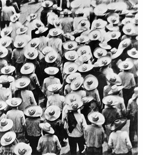 "Tina Modotti, ""March of Campesinos"", 1928, is reproduced from <i>Tina Modotti</i>."