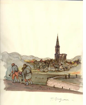 "Tomi Ungerer, ""Untitled [Strasbourg 1871]"", 1975, is reproduced from <i>Tomi Ungerer: All In One</i>."