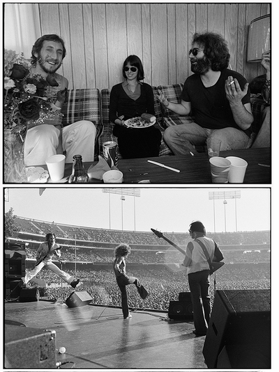 Total Excess: Photographs by Michael Zagaris, backstage Pete Townshend & Jerry Garcia