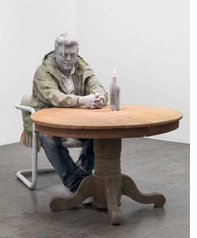 Featured image, Urs Fischer's life-sized, untitled 2011 self-portrait in candle wax, is reproduced from <I>Skinny Sunrise</I>.