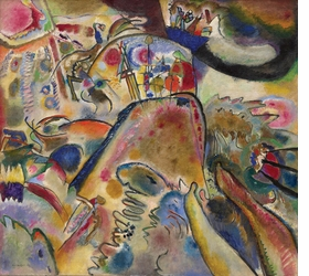 """Small Pleasures"" (1913) is reproduced from <I>Vasily Kandinsky: From Blaue Reiter to the Bauhaus, 1910-1925</I>."