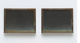 """Blackboard Tableau #14"" (2011-15) is reproduced from 'Vija Celmins.'"
