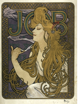 Featured image is an 1896 advertisement for cigarette papers by Alphonse Mucha. It is reproduced from <I>Vital Art Nouveau</I>.