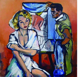 "Walter Robinson, ""My Love is Violent"", is reproduced from <i>Walter Robinson: Paintings and Other Indulgences</i>."