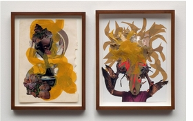 "The alluring and intricate collages of Kenyan-born, New York-based artist Wangechi Mutu (born 1972) draw the viewer into narratives of beauty, consumerism, colonialism, race, identity and gender politics.  <p>Featured image is Wangechi Mutu's <i>""You can't fly""</i>, from 2008, two watercolor and mixed media collages on paper.</i> Mutu's works on paper and videos are documented in <a href=""http://www.artbook.com/9781894243643.html""> Wangechi Mutu: This You Call Civilization?</a>, published by the Art Gallery of Ontario, Toronto."