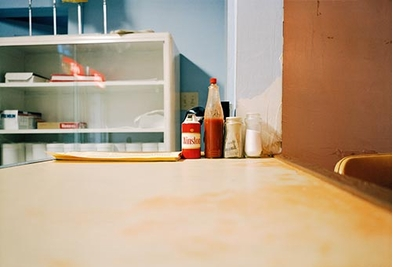 William Eggleston: The Democratic Forest, Bottles on Table