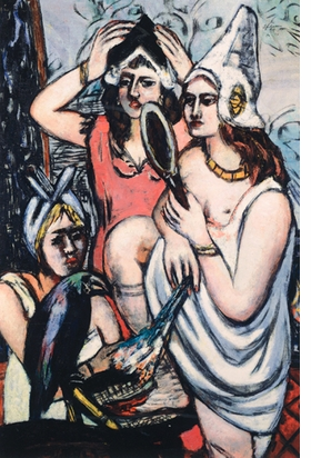 "Featured image, Max Beckmann's ""Before the Dress Ball"" (1945), is reproduced from <I>Women: Picasso, Beckmann, de Kooning.</I>"
