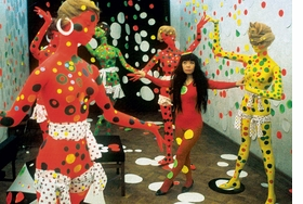 """Polka Dot Love Room"" at the Orez gallery in the Hague, The Netherlands, 1967 is reproduced from <I>Yayoi Kusama: In Infinity</I>."