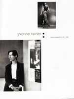 Yvonne Rainer: Radical Juxtapositions 1961-2002
