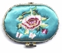 Chinese Compact Mirror - Embroidered Flowers #8