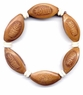 Carved Chinese Olive Seeds Bracelet - Auspiciousness & Prosperity #3