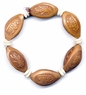 Carved Chinese Olive Seeds Bracelet - Wealth #1