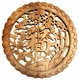 Carved Chinese Wood Plaque - Good Fortune Symbol #25