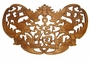Carved Chinese Wood Plaque - Good Fortune & Wealth Symbols #20