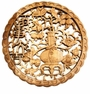 Carved Chinese Wood Plaque - Prosperity #23