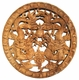 Carved Chinese Wood Plaque - Twin Dragons #16
