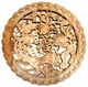 Carved Chinese Wood Plaque - Good Fortune & Wealth Symbols  #19