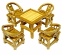 Chinese Bamboo Miniature Furniture Set #7