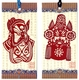Chinese Bookmarks with Traditional Chinese Paper Cuts - Chinese Opera Masks (Set of 2) #5