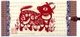 Chinese Bookmark with Traditional Chinese Paper Cuts - Chinese Zodiac Symbol / Ox #30