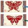 Chinese Bookmarks with Butterfly Paper Cuts (Set of 2) #18