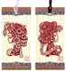 Chinese Bookmarks with Traditional Chinese Paper Cuts - Maiden (Set of 2) #15