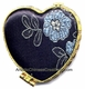 Chinese Brocade Compact Mirror - Flowers #20