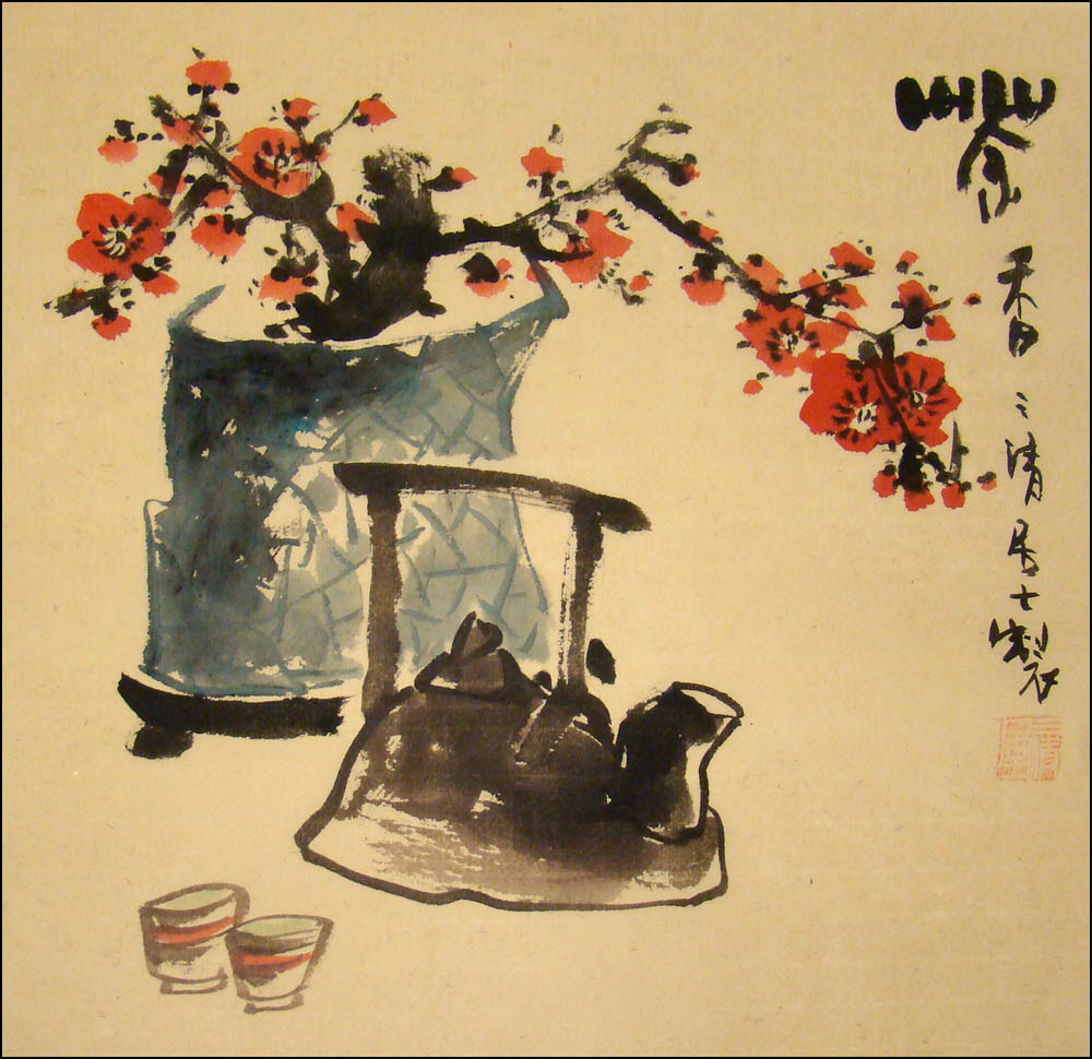Chinese Brush Painting - The Art of Tea, Chinese Original Painting