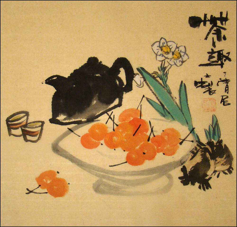 Chinese Brush Painting - Tea Time, Chinese Original Paintings ...