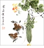 Chinese Brush Painting - Two Birds / Happy Couple #568