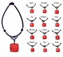 Chinese Cinnabar Necklace - Zodiac Symbols