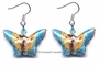 Chinese Cloisonne Earrings (pair) - Butterfly #10