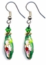 Chinese Cloisonne Earrings (pair) #11