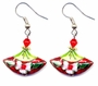 Chinese Cloisonne Earrings (pair) #13