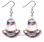 Chinese Cloisonne Earrings (pair) #16