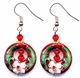 Chinese Cloisonne Earrings (pair) #25