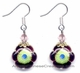 Chinese Cloisonne Earrings (pair) - Flower #28