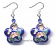 Chinese Cloisonne Earrings (pair) - Flower #3