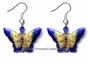 Chinese Cloisonne Earrings (pair) - Butterfly #30