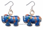 Chinese Cloisonne Earrings (pair) - Elephant #31