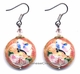Chinese Cloisonne Earrings (pair) #35