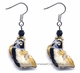 Chinese Cloisonne Earrings (Pair) - Fish / Wealth #39