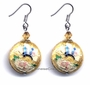 Chinese Cloisonne Earrings (Pair) #46