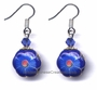 Chinese Cloisonne Earrings (pair) - Flower #5