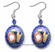 Chinese Cloisonne Earrings (Pair) #56