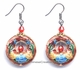 Chinese Cloisonne Earrings (Pair) #57